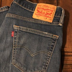 Men's Levi's 511 slim fit jeans. Size 36 x 32